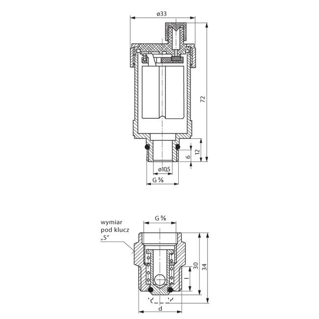 automatick u00fd odvzdu u0161 u0148ovac u00ed ventil 1  2 u0026quot  x 3  8 u0026quot