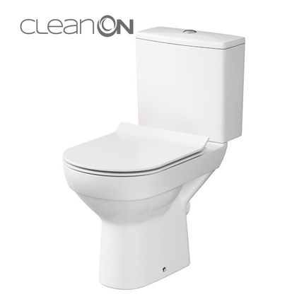 CERSANIT - KOMPAKT 602 CITY NEW CLEAN + WC DOSKA (K35-036)