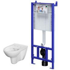 CERSANIT - SET ZÁVESNÉ WC PARVA NEW CLEAN ON+PODOMIETKOVÝ SYSTÉM (S701-156)