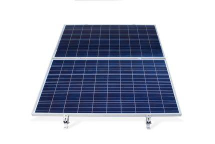 Konštrukcia pre 2 PV na rovinu - panel na ležato sklon 0°-10°